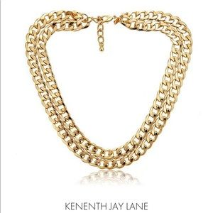 Vintage Kenneth Jay Lane Double Gold Chain